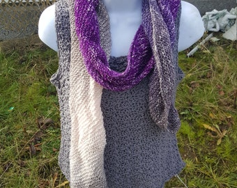 Super soft knit scarf, wrap scarf holiday gift, woman scarf, scarves and wraps mindful mauve