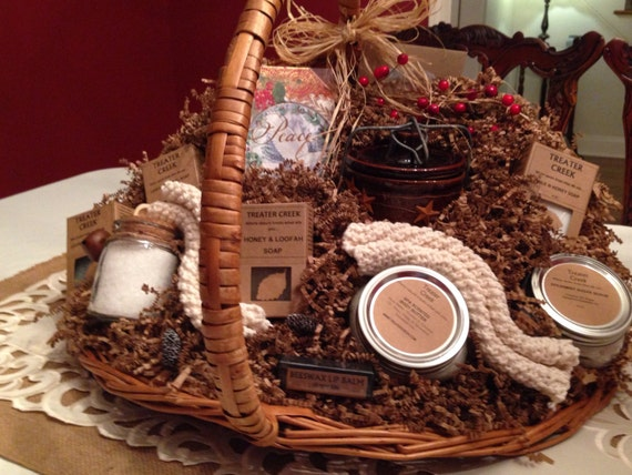 Christmas Peace Gift Basket made with essential oils