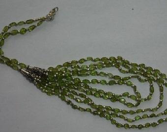 Designer Peridot beaded necklace