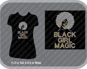 Black Girl Magic Bling Rhinestone Tee
