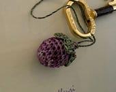 Crochet Berry Charm - Hand Crochet - Zipper Charm - Gift Tag - Needlework Accessory - Etsy Studio - Tassel Charm - Australian Seller