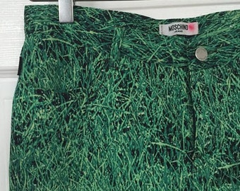 Vintage 90s Grass Print Moschino Jeans