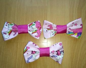 Rockabilly- Bows - unicorn pink  purple rainbow