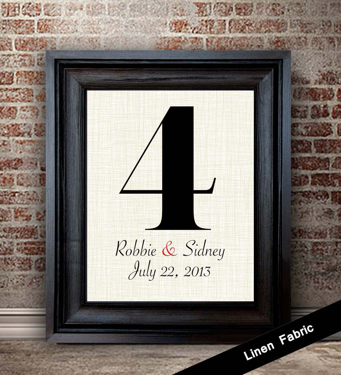 4 Year Wedding Anniversary Gift Linen Gift Ideas Her Linen