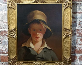 After Sully Thomas -The Boy in the Torn Hat -Gorgeous Oil Painting