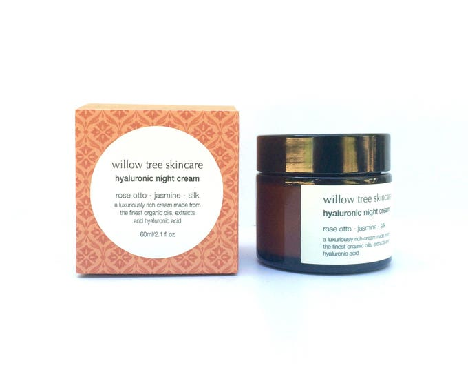 Featured listing image: Hyaluronic Night Cream with Silk, Rosehip, Jasmine and Rose Otto