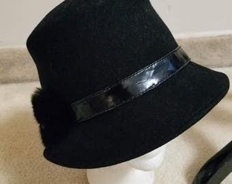 Clearance...MEMAR BLACK Wool hat