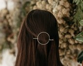 Capella Hair Pin // Two piece hair pin with moonstones