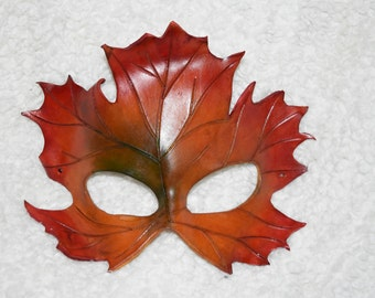 Maple leaf mask - autumn colours - this one available now