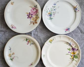AUGUST SALE! English Vintage Dessert Plates