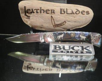 "Buck 110 Knife Custom ""Wild Life"" by Ghostown Custom Knives 437-17"
