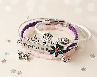 Together in Paris Bracelet, Once Upon a December, Snowflake Necklace, Tiara Bracelet, Geekery, Princess Bracelet, Cosplay
