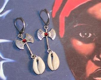 Chango Orisha Shango Silver stainless steel lever back Earrings