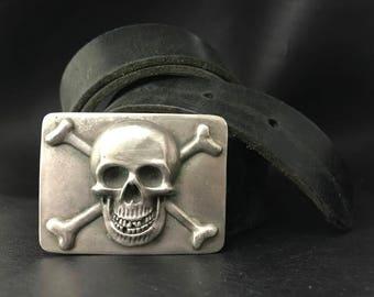 Skull and Bones BELT BUCKLE