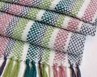 Colorful Table Runner, Table Linens, Handwoven Runner, Handmade Table Runner, Farmhouse Style, Table Decor, Weaving, Boho Decor