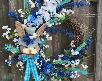 Easter Wreath, Rustic Easter, Easter Grapevine Wreath, Easter Bunny Wreath, Easter Floral, Easter Decor, Easter Front Door, Rustic Wreath