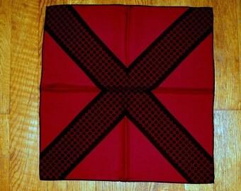 Gavroche Hermes scarf, silk, Burgundy, vintage, small square