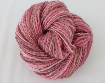 Handspun Yarn - Springtime Pink Handspun Yarn - Pink Handspun Yarn