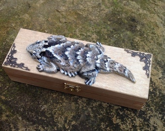Phrynosoma horny toad ornamental box