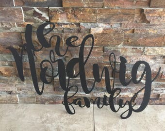 Custom Family Name Metal Sign Cut Out
