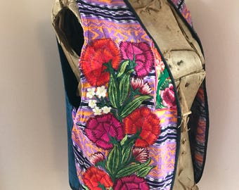 Vintage 1970's  Embroidered Vest from Mexico