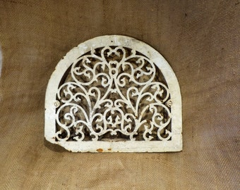 Vent Grate Cover, Large Arched Cast Iron, Art Nouveau Architectural Salvage, Radiator Cover
