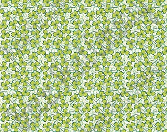 Green shamrock and dot pattern craft  vinyl sheet - HTV or Adhesive Vinyl -  four leaf clover St Patricks Day HTV3977