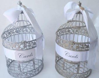 SALE Birdcage, CHAMPAGNE-As Pictured- Card Money Holder Birdcage Cardholder, Wedding Card Birdcage, Wedding Birdcage