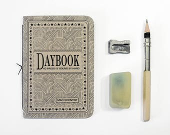 The Daybook  - MAD SCIENTIST - Set of 3, 40 page handsewn pamphlets - Travelers notebook refills