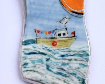 little boat brooch