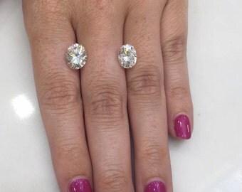 Loose SUPERNOVA Moissanite Oval Cut  Diamond Alternative  Ethical Diamond