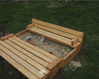 Sandbox With Built In Seats Woodworking Plans
