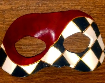 Leather Checkered Domino