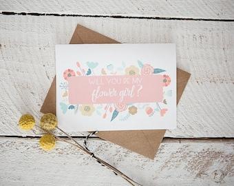 Flower Girl Card // Will you be my flower girl?