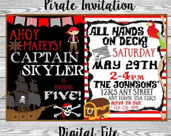 Pirate Birthday Invitation (DIGITAL FILE)