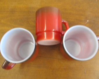 Vintage Set of 3 Ombre FIRE KING Mugs