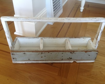Vintage Wood Tool Caddy Old Barn Wood