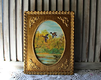 Vintage. Painting in gold frame.