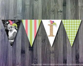 April Fools or Circus Custom Birthday Flags | FLAGS1