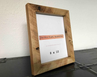 Rustic Oak Picture Frame - 8 x 10 - Handmade out of Reclaimed Oak