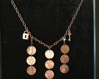Genuine Penny Necklace with charms