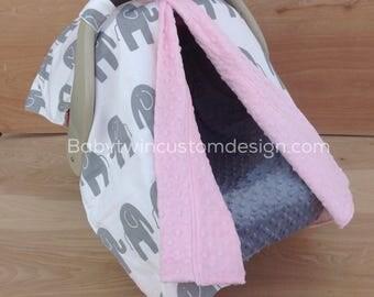 Canopy Tent- Elephants / Pink