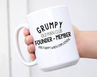 Fathers Day Mug // Grumpy Old Man // Humour Gift // Retirement // Man Mug