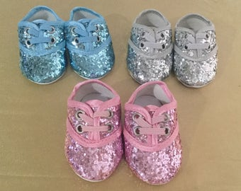 Glitter Dance Shoes for 18inch dolls three color choices