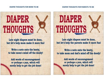 Baseball Diaper Thoughts, DIY Diaper Game, Diaper Message, Late Night Diaper, Words For Wee Hours, Write On Diaper - Printables 4 Less 0004
