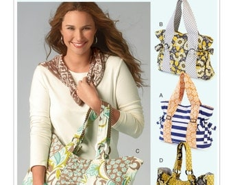 McCalls M6905 Ruched and Gathered Tote Bags