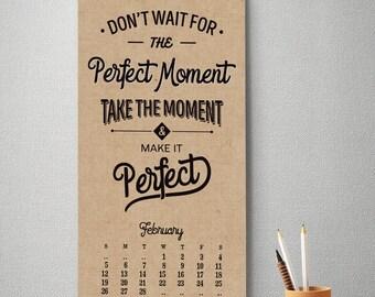 2017 Monthly Wall Calendar, 9.5 x 17.25, 2017 Calendar, Inspirational Quotes  (cal0020)