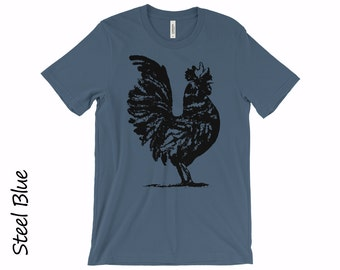 Rooster Tshirt Mens T-shirt Womens T-shirt Graphic Tshirts Boyfriend T-shirt Custom T-shirt Cotton Year of Rooster Tshirt Rooster Shirt