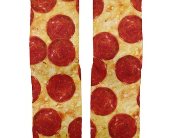 Pepperoni Pizza socks, Food Socks, Pizza Socks
