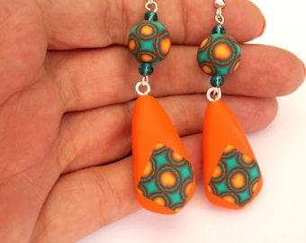 Polymer Clay Earrings, Abstract Earrings